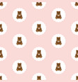teddy bear baby seamless vector image