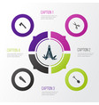 tools icons set collection of shears vector image vector image