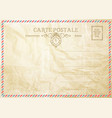 vintage post card template vector image vector image