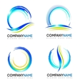 Water Splash Logo design vector image
