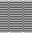 Monochrome movement White black wave line vector image