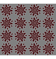 Brown abstract lace flowers on the gray vector image