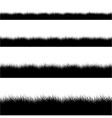 modern black grass silhouette set vector image