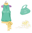 set of lady s accessories icons isolated objects vector image