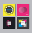 abstract posers set art graphic backgrounds vector image