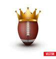 American football ball with royal crown vector image vector image
