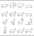 Animal iconsElements for print mobile and web vector image vector image