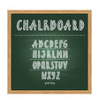 antique child school chalkboard with green texture vector image vector image