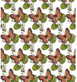 background seamless pattern with butterflies vector image vector image