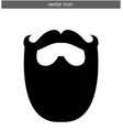 beard icon isolated vector image