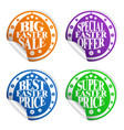 best easter sale colorful stickers set vector image
