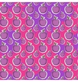 Big fresh apple pattern vector image