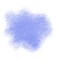 blue crayon scribble texture stain isolated on vector image vector image