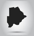 botswana map black icon on white background vector image vector image