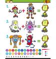cartoon mathematical education game vector image vector image