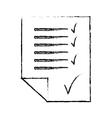 checklist sheet icon image vector image