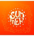 Circle Summer lettering background vector image vector image