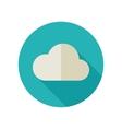 Cloud flat icon Meteorology Weather vector image
