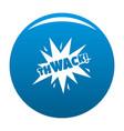 comic boom thwack icon blue vector image vector image