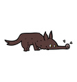 comic cartoon dog sniffing floor vector image vector image