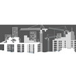construction site in paper vector image