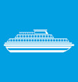 cruise ship icon white vector image vector image