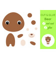 cut and glue babear education developing vector image vector image