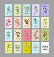 cute little fairies collection cards for your vector image