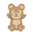 cute monkey or stuffed animal icon image vector image vector image