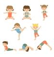 Cute yoga kids vector image
