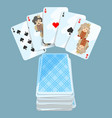 deck of different cards collection vector image