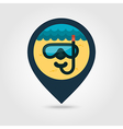 Diving Mask pin map icon Summer Vacation vector image vector image