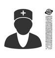 doctor icon with work bonus vector image vector image