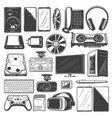 electronic device and digital gadget icons vector image