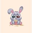 Emoji character cartoon Gray leveret chewing vector image vector image