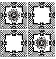 Ethnic motives vintage traditional ceramic tile