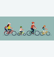 family cycling concept vector image