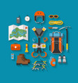 flat design equipment for climbing vector image vector image