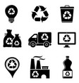 garbage recycling icons vector image