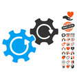 gears rotation icon with lovely bonus vector image vector image