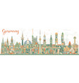 germany city skyline with color buildings vector image vector image