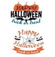 Halloween holiday party banners vector image vector image