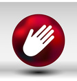 Hand icon palm symbol graphic sign line vector image vector image