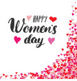 happy womens day greeting card hand lettering vector image vector image