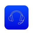 headset icon blue vector image