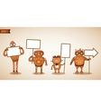 icons intelligent machines holding signs vector image