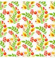 khokhloma seamless pattern background vector image vector image