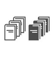 library line and glyph icon education vector image vector image