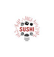 logo and emblem for restaurants of japanese vector image vector image