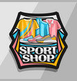 logo for sport shop vector image vector image